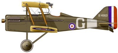 The SE.5a flown by 23-year old British ace, James McCudden. Image courtesy of Wikipedia: http://en.wikipedia.org/wiki/File:Se5McCudden.jpg