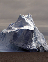 Photo of an iceberg (source: http://en.wikipedia.org/wiki/File:Iceberg_Antarctica.jpg)