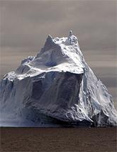 Photo of an iceberg (source: http://en.wikipedia.org/wiki/File:Iceberg_Antarctica.jpg)