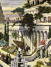 Hanging Gardens of Babylon engraving