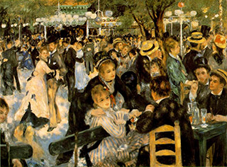 Renoir's painting of a Sunday afternoon in Paris, 1876