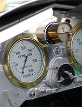 Instrument panel for Jay Leno's 1915 Hispano-Suiza Aero Engine Car