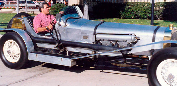 Jay Leno driving in his vintage car (image courtesy of Alan Light on http://en.wikipedia.org/wiki/File:JayLenoCar.jpg)